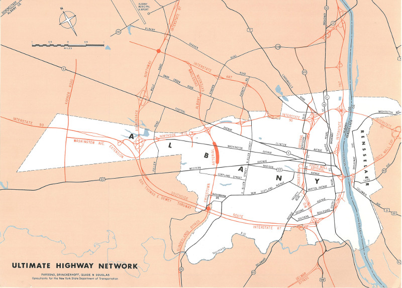 Capital Distrct planned freeway/expressway network