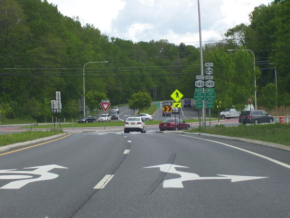 Roundabout on the Slingerlands Bypass