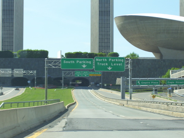 South Mall Arterial under Empire State Plaza