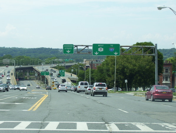 Hoosick Street and the Collar City Bridge