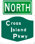 Cross Island Parkway north