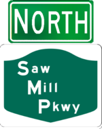 Saw Mill River Parkway north
