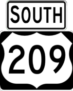US 209 south