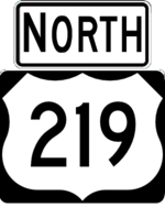 US 219 north
