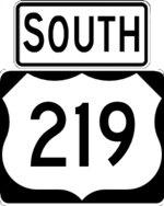 US 219 south
