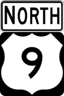 US 9 north